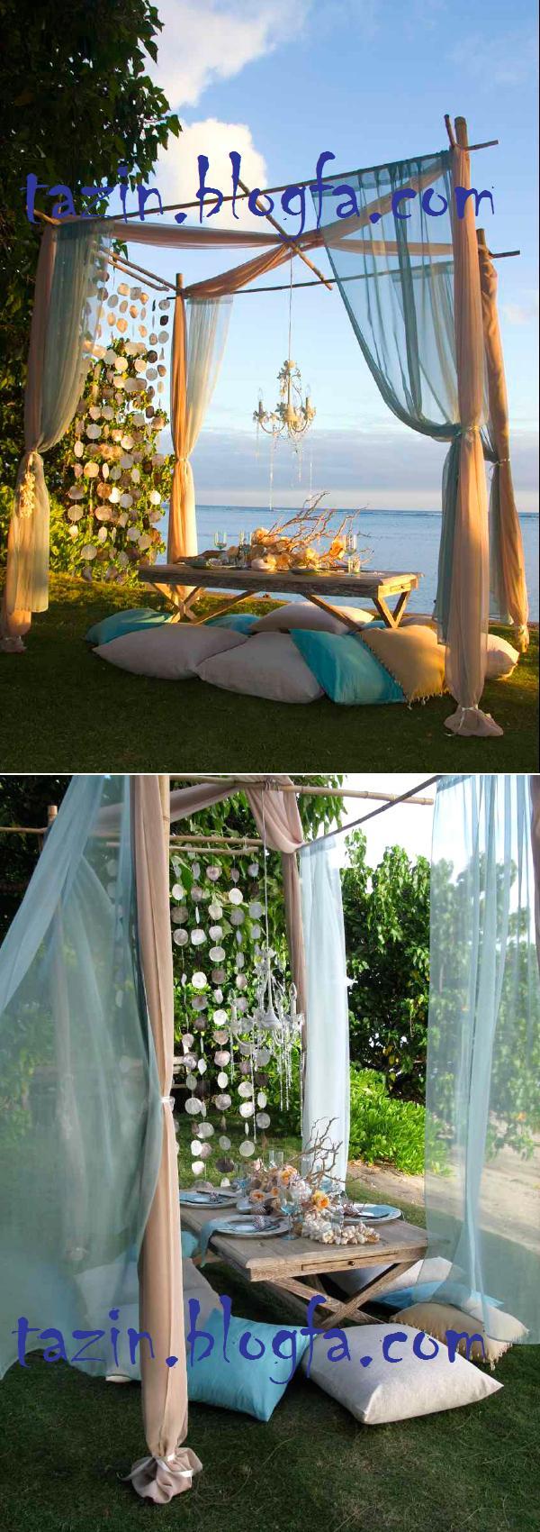 عروسی در کنار ساحل